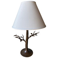 Wrought Iron Leaf Table Lamp