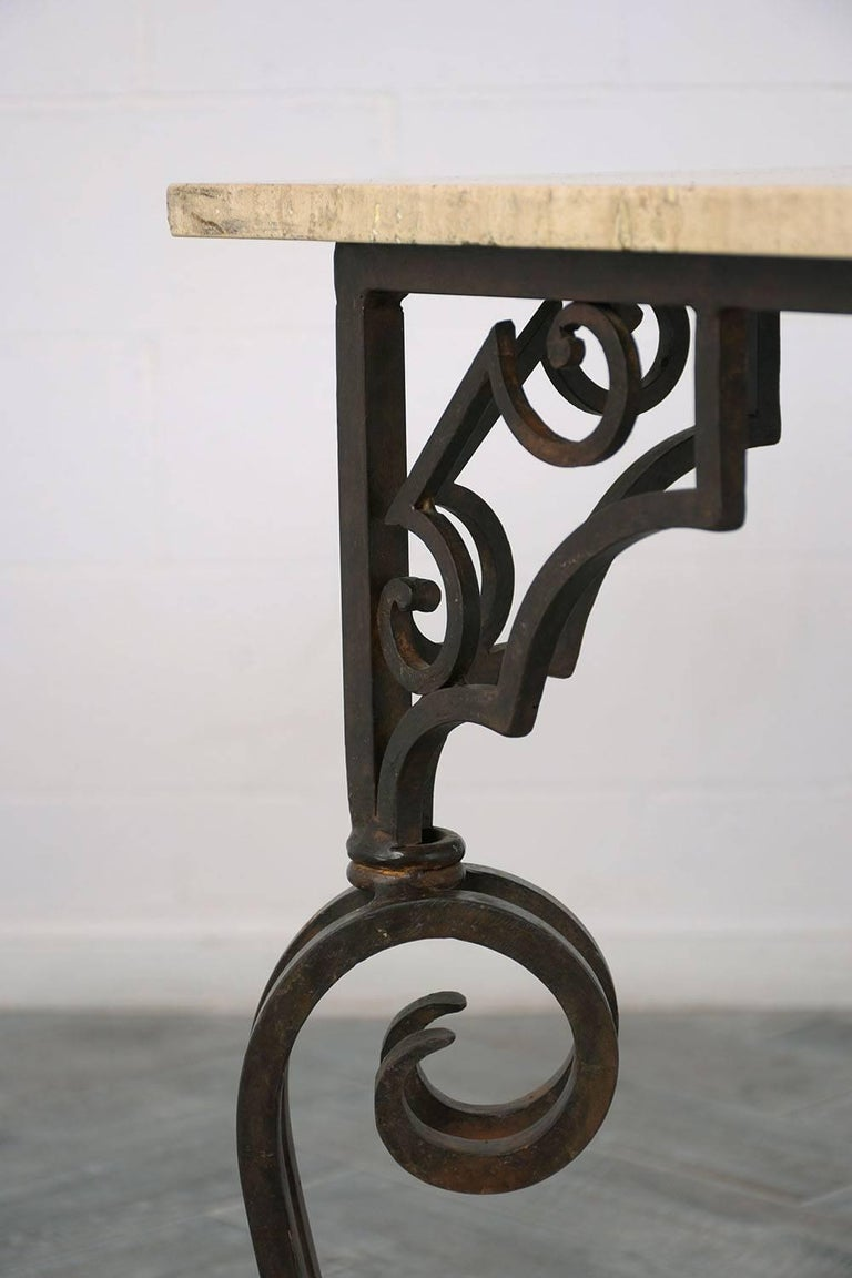 Wrought Iron Outdoor Dining Table For Sale 5