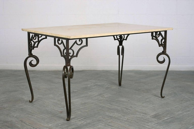 Wrought Iron Outdoor Dining Table For Sale At 1stdibs