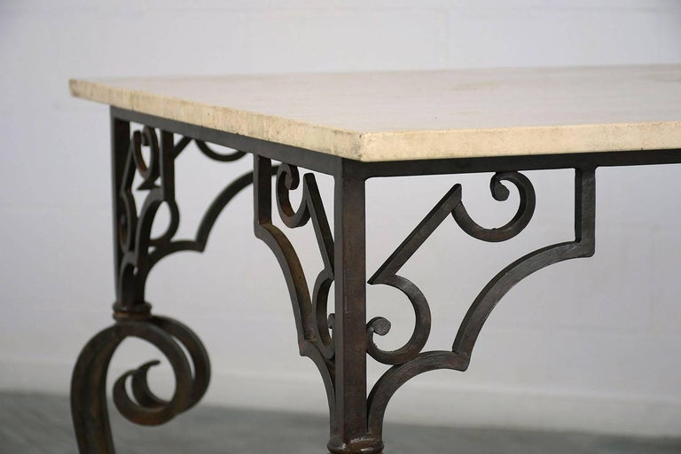 Wrought Iron Outdoor Dining Table For Sale 3