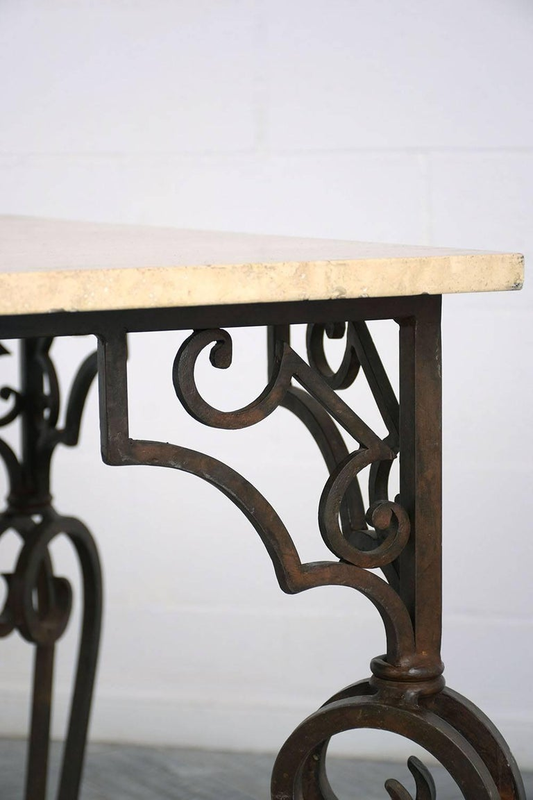 Wrought Iron Outdoor Dining Table For Sale 4