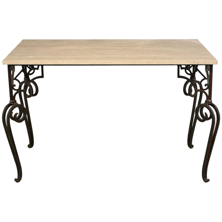 Wrought Iron Outdoor Dining Table For Sale