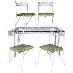 Wrought Iron Patio Garden Set by Maurizio Tempestini for Salterini
