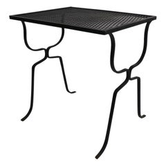 Wrought Iron Patio Garden Table Attributed to Woodard