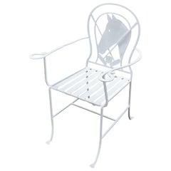 Wrought Iron Polo Pony Chair