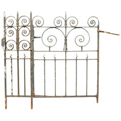 Wrought Iron Railing with Side Gate and Post