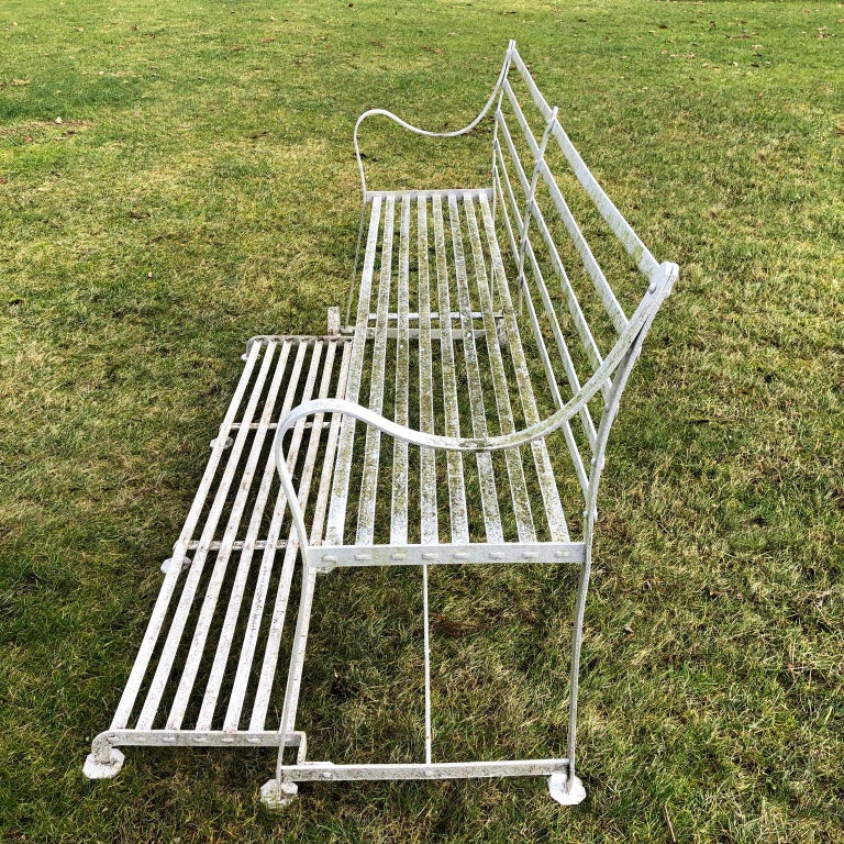 Hand-Crafted Wrought-Iron Regency Games Seat For Sale
