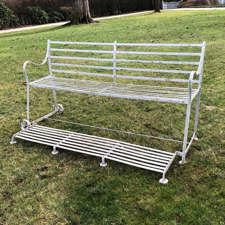 Wrought-Iron Regency Games Seat In Good Condition For Sale In Katonah, NY