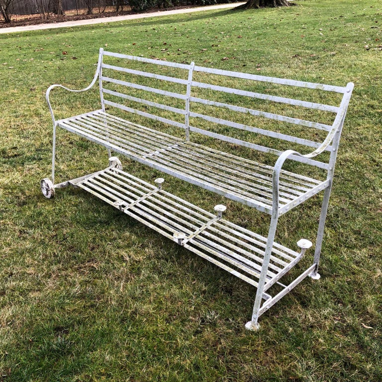 19th Century Wrought-Iron Regency Games Seat For Sale