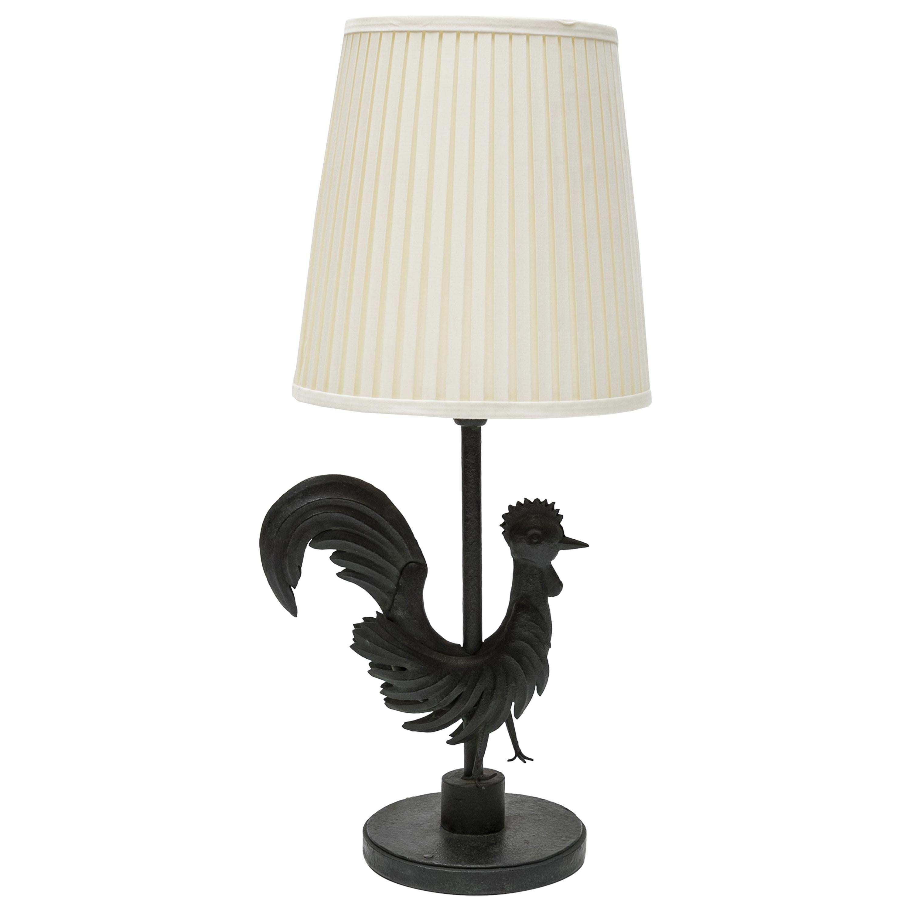 """Wrought Iron """"Rooster"""" Lamp"""