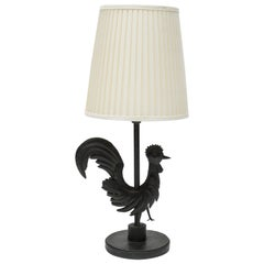 "Wrought Iron ""Rooster"" Lamp"