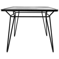 Wrought Iron Square Table by Ico Parisi