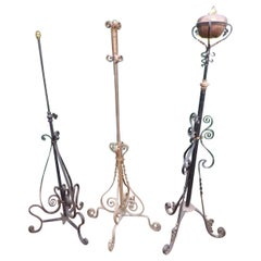 Wrought Iron Standard Lamps, 20th Century