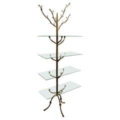Wrought Iron Tree Shelf