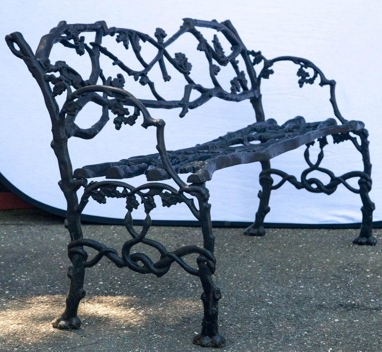 Wrought Iron Twig Form Bench For Sale 1