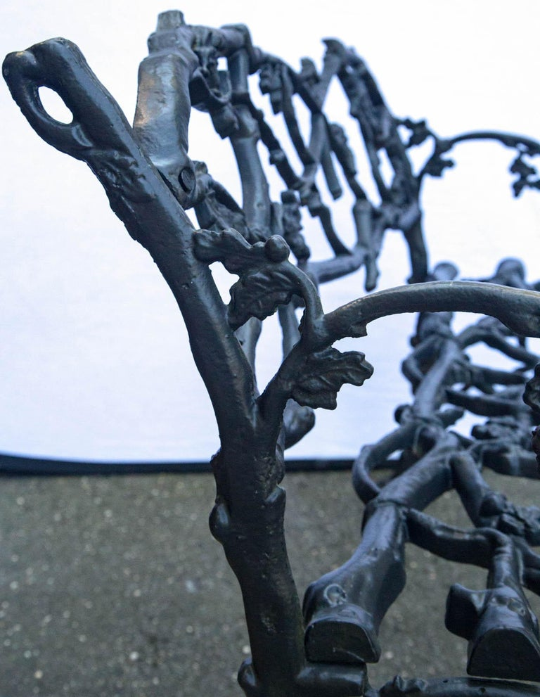 Wrought Iron Twig Form Bench For Sale 2