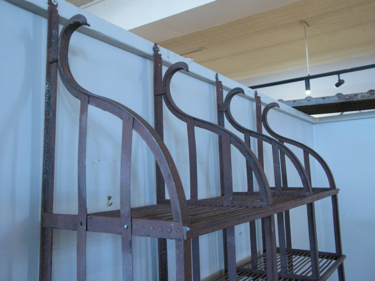 Wrought Iron Wall-Hanging Shelving Rack For Sale 1