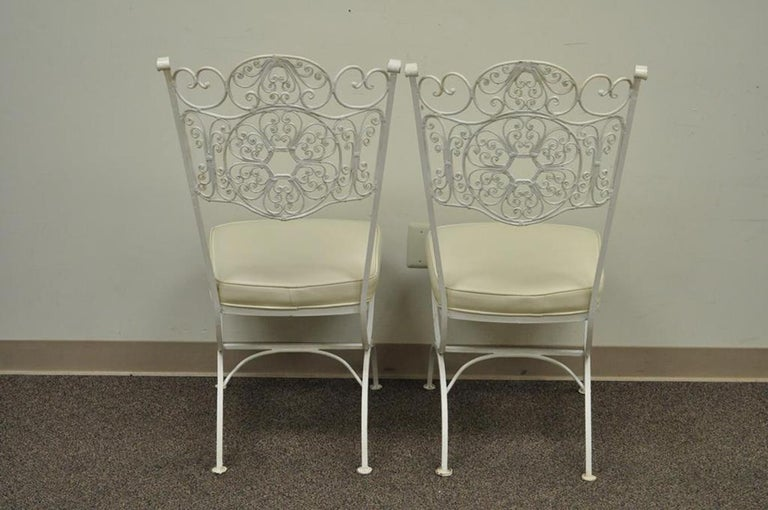 Wrought Iron Woodard Andalusian Patio Sunroom Dining Set ...