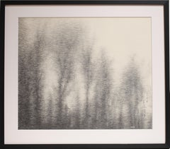 Pencil on paper - Study of Water Reflection, 2014, (Framed)