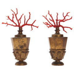 Wunderkammer Pair of Coral Branches, Italy, 1870