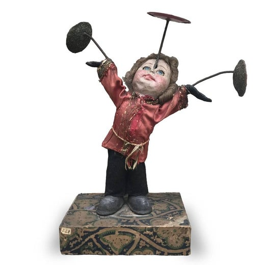 Wunderkammern Mechanical Toy German Juggling Clown Automation 1900 circa