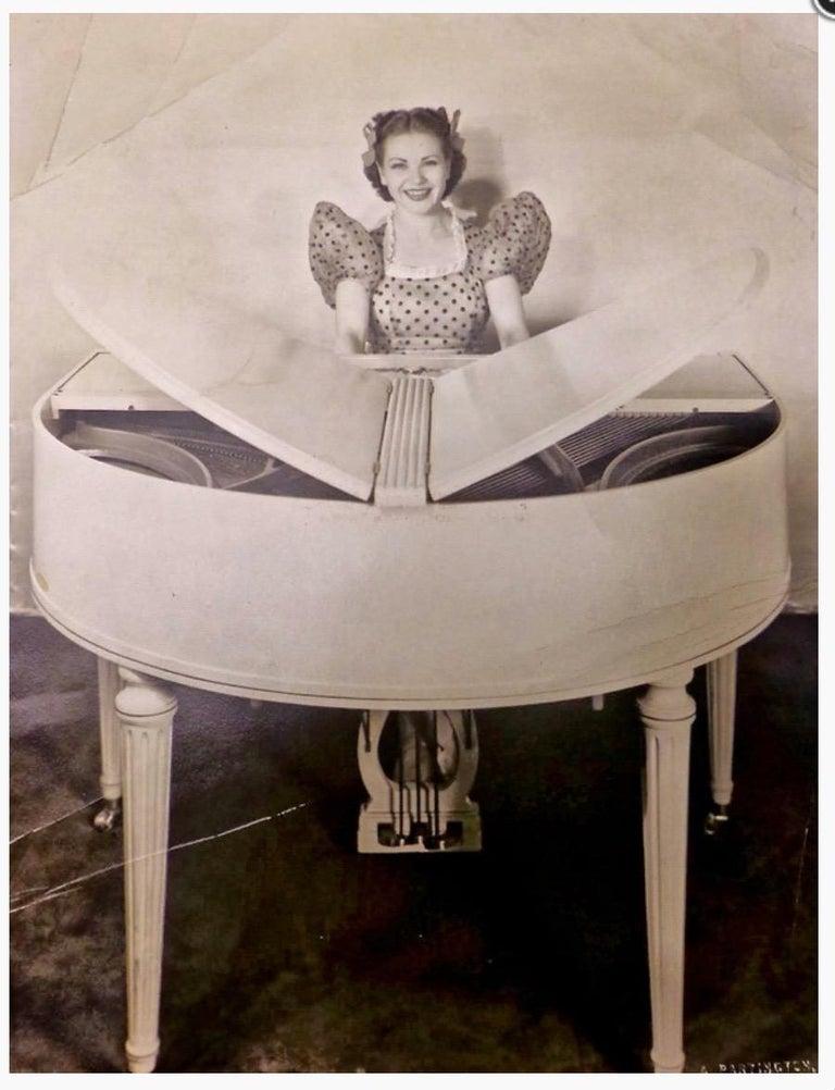 Wurlitzer Butterfly Baby Grand Piano Art Deco Streamline For Sale 10