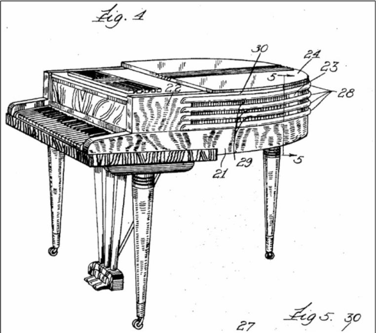 Wurlitzer Butterfly Baby Grand Piano Art Deco Streamline For Sale 11