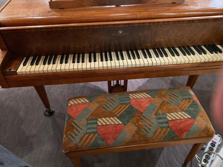 Wurlitzer Butterfly Baby Grand Piano Art Deco Streamline For Sale 6