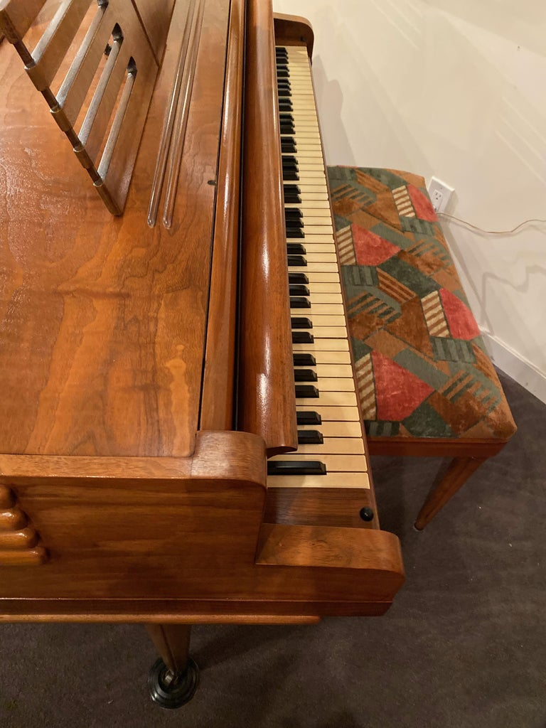 Wurlitzer Butterfly Baby Grand Piano Art Deco Streamline For Sale 7