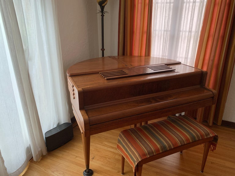 Wurlitzer Butterfly Baby Grand Piano Art Deco Streamline For Sale 3