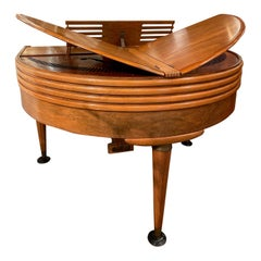Wurlitzer Butterfly Baby Grand Piano Art Deco Streamline