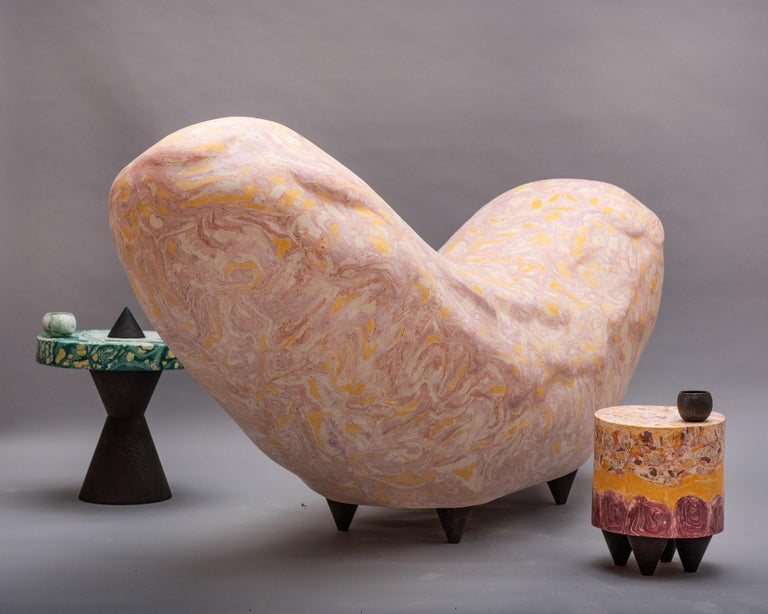 """English """"Wurst"""" Contemporary Bench by Studio Morison for General Life For Sale"""