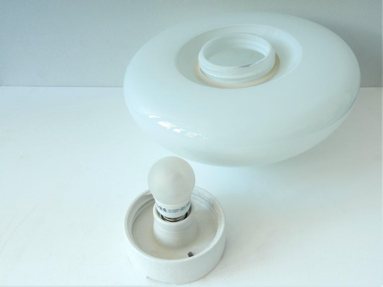 WV 339 Flushmount by Wagenfeld for Lindner, Germany, 1950s-1960s In Good Condition For Sale In Steenwijk, NL