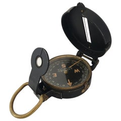 WW II Field Compass Manufactured by W & L..E. Gurley, Troy, NY, USA