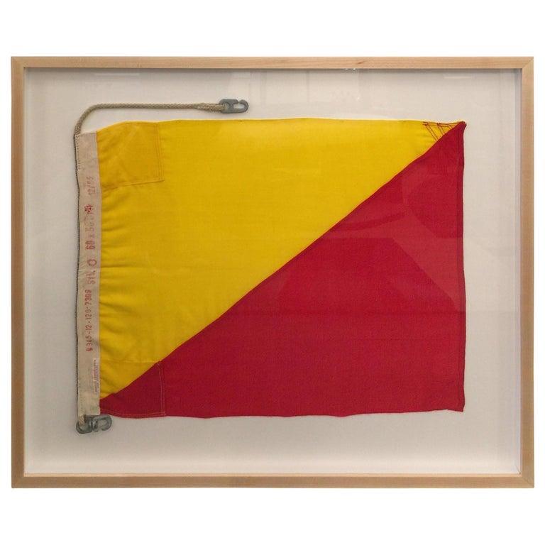 WW II Nautical Signal Flag For Sale