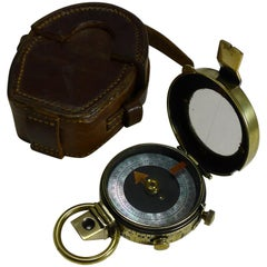WWI 1915 British Army Officer's Compass, Verner's Patent MK VII by Cary, London