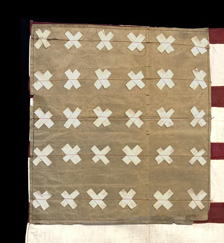 WWI Belgian-Made Version of the Stars & Stripes, a WWI Liberation Flag In Good Condition For Sale In York County, PA