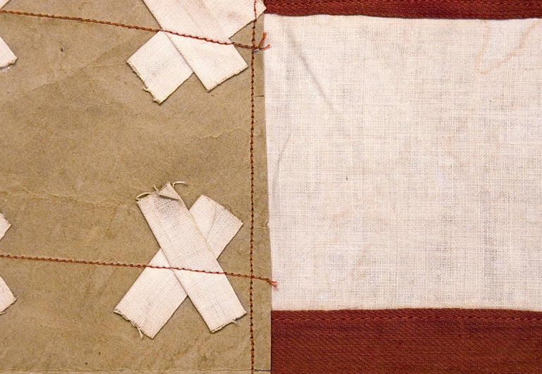 Early 20th Century WWI Belgian-Made Version of the Stars & Stripes, a WWI Liberation Flag For Sale