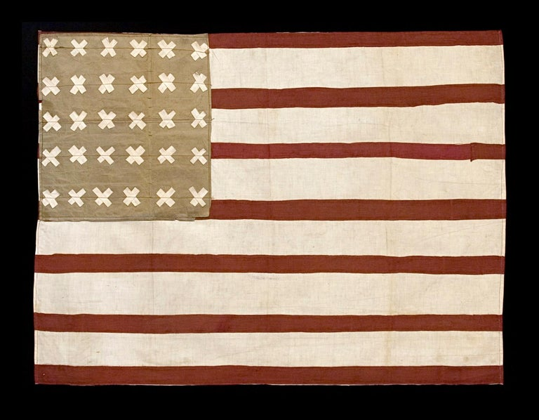 Cotton WWI Belgian-Made Version of the Stars & Stripes, a WWI Liberation Flag For Sale