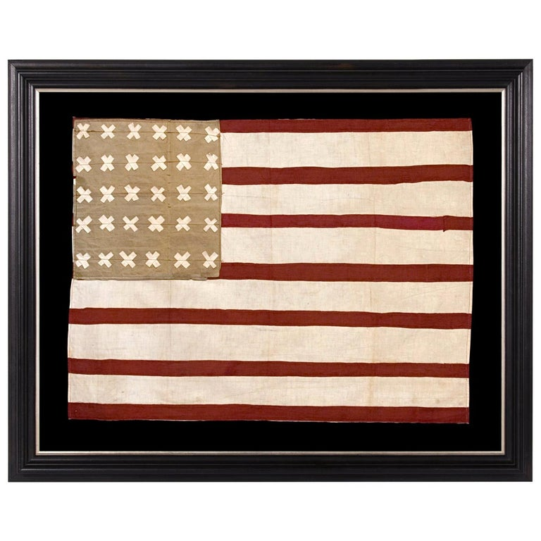 WWI Belgian-Made Version of the Stars & Stripes, a WWI Liberation Flag For Sale