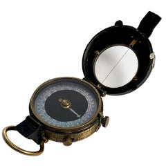 WWI Military Officer's Marching Compass Dated 1918, Verners Patent VIII