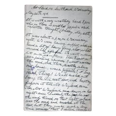WWI Period Hand-Written Account of May 26th 1916; Relating to Zeppelin Air-Raid