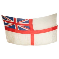 WWI Royal Navy white ensign flag for HMS Vindictive