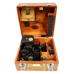 WWII Air Force Sextant Used by Air Force U.S. in Its Original Wooden Box
