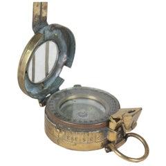 WWII Brass Pocket Compass, England, 1942