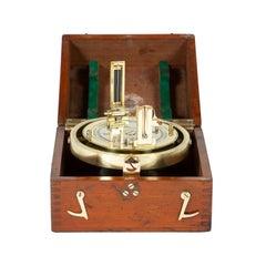 WWII Era Mahogany Cased Maritime Pelorus Instrument