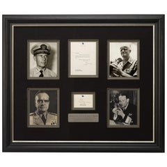 Battle of Midway Navy Admirals, Halsey, Nimitz, Fletcher, Spruance Autographs