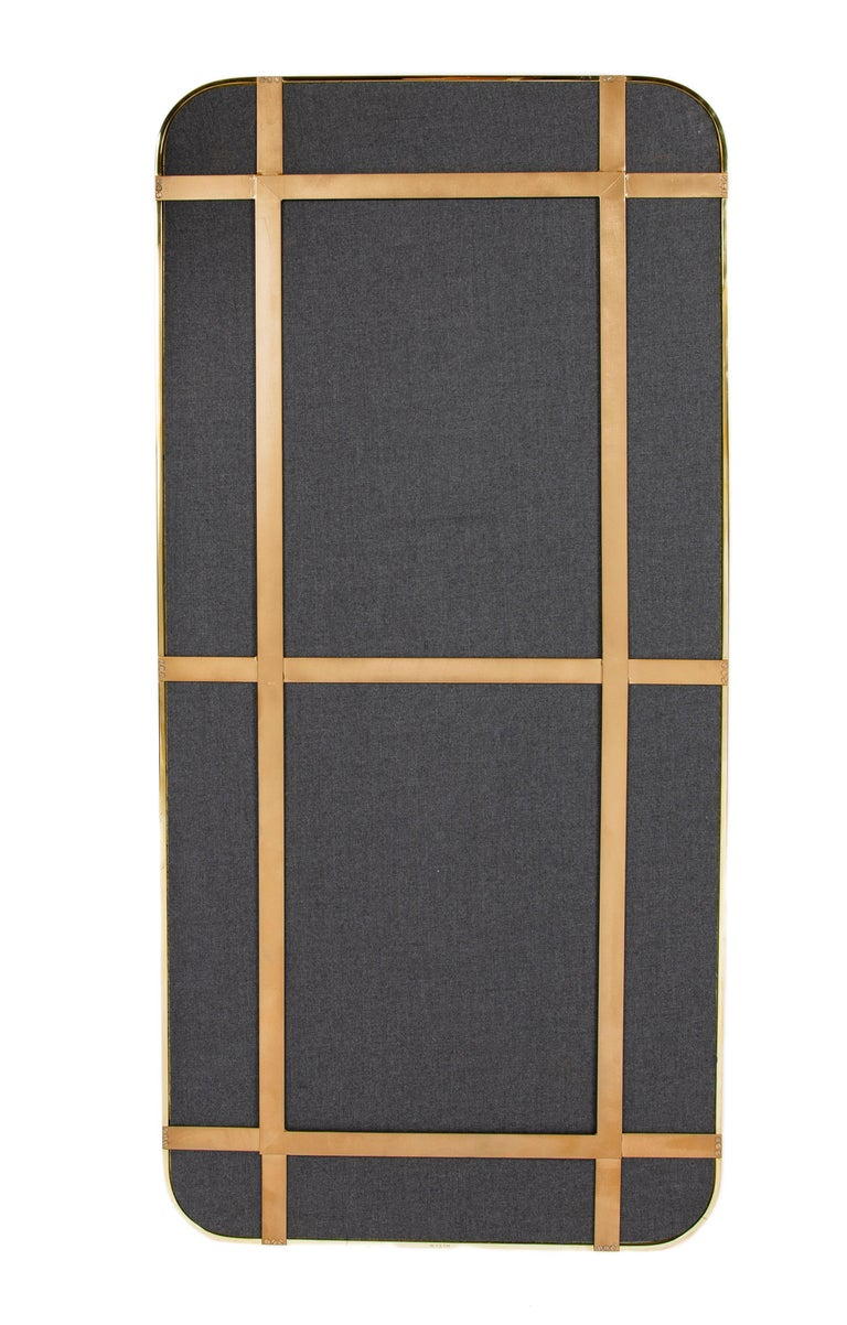 Polished Wyeth Original Bronze Wall Mirror For Sale