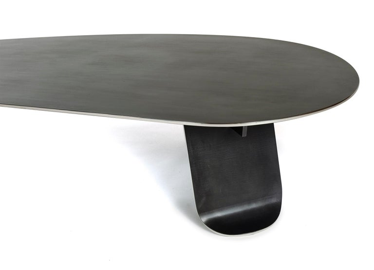 Wyeth Chrysalis Table No. 1 in Blackened Stainless Steel with Polished Edges For Sale 8