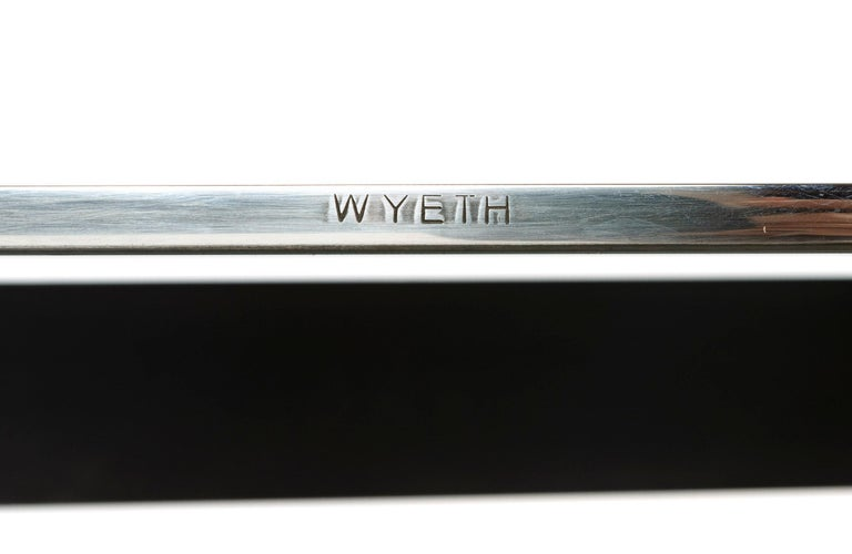 Wyeth Chrysalis Table No. 1 in Blackened Stainless Steel with Polished Edges In New Condition For Sale In Sagaponack, NY